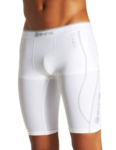 SKINS A200 Bas Thermique, Blanc, XX-Large (Taille Fabricant: XXL) Homme