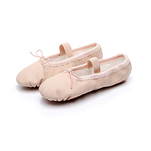 Mars Jun Meisjes Ballet Schoenen Dames Dansschoenen Platte Dansende Slipper PU Vamp Lederen Zool Elastische Ballet Schoenen Dans