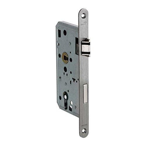 BMH Einsteckschloss | Klasse 3 | Für Zimmertüren (Profilzylinder) | Edelstahlstulp und Flüsterfalle | *Made in Germany* (DIN Rechts)