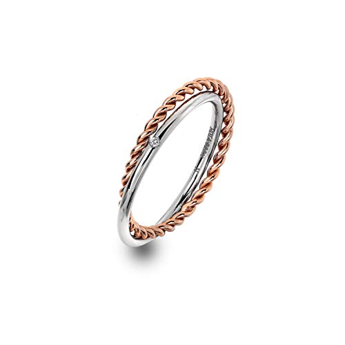 Hot Diamonds Unity Ring - Rose Gold Plate Accents maat Q