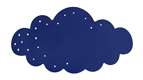 Tosel 31882 Applique 1 Lumière, Acier, E27, 40 W, Bleu, 34 x 9 cm