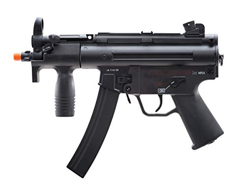 Elite Force HK Heckler & Koch MP5 AEG Automatic 6mm BB Rifle Airsoft Gun, MP5K, Multi (2275055), One Size, Black