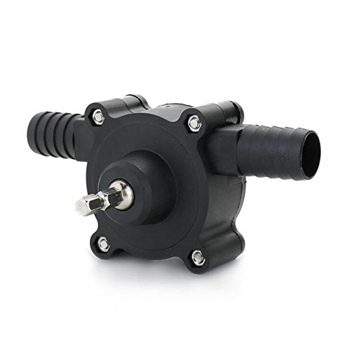 Bingqi Hand Electric Drill Pump Kit Portable Self Priming Transfer Pump Oil amp Fluids Diesel Kerosene Water Transfer Pump Round