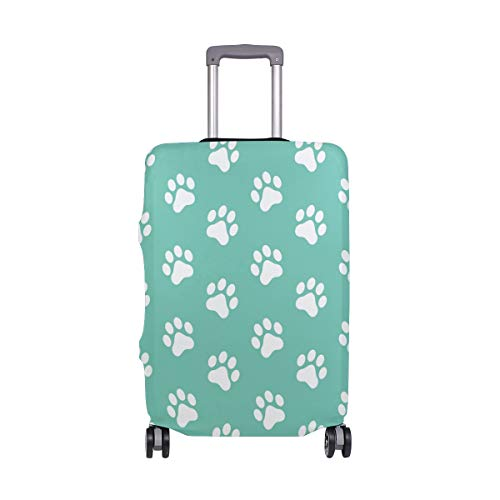 ALINLO Dog Paw Pattern Luggage Cover Baggage Suitcase Travel Protector Fit for 18-32 Inch