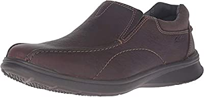 Clarks Men's Cotrell Step Slip-on Loafer,Brown Oily,9.5 M US