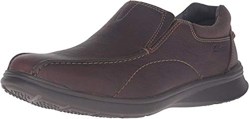 Clarks Men's Cotrell Step Slip-on Loafer,Brown Oily,10 W US