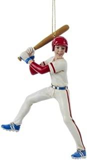 Kurt Adler 5.5-Inch Baseball Boy Christmas Ornament
