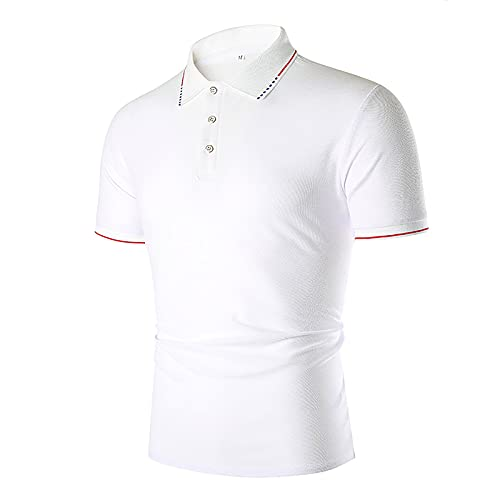 Nuevo 2021 Camiseta Hombre Verano Polo Moda Color sólido Camiseta Deporte Manga corta Negocio Diario Slim Fit Cómodo Casuales T-shirt Blusas originales camisas algodón suave básica Camiseta