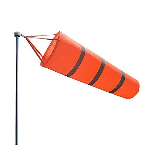 DIYARTS Windsack Outdoor Orange Wind Socke Tasche Flagge Mit Reflektierendem Gürtel Für Flughafen Garten Terrasse Rasen Windmessung Und Festigkeitsanzeige (100cm)
