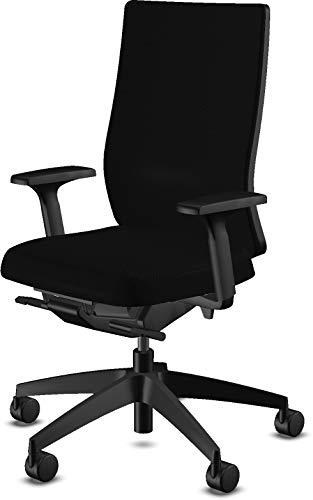 Bümö sedus Sedus bureaustoel zwart - draaistoel rugleuning in hoogte verstelbaar - bureaudraaistoel Made in Germany draaistoel Volledig gevoerd.