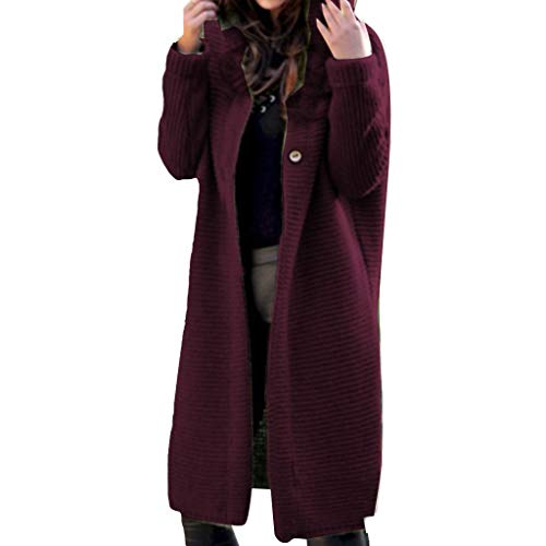 Zottom Plus Size Damen Solide Langarm Strickjacke Fashion T-Shirt Tops Coat Sweater