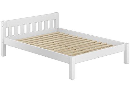 Erst-Holz 60.38-12 W Einzelbett mit Rollrost - 120x200 - Massivholz Weiß
