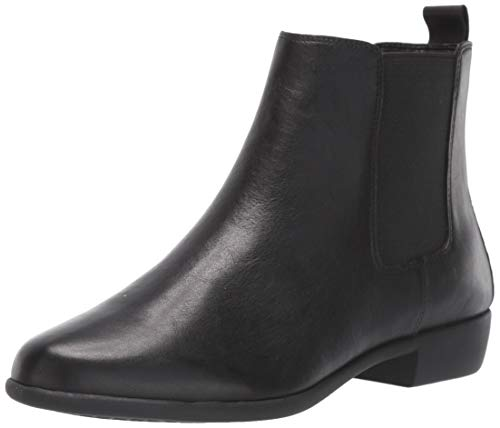 Aerosoles Women's Step Dance Ankle Boot, Black Leather, 8 M US