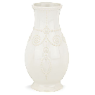 """French Perle White™ 8"""" Fluted Vase 