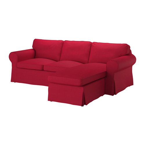 IKEA Ektorp Cover for Sofa with Chaise - Nordvalla Red (Slipcover Only)