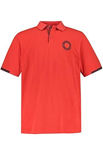 JP 1880 Herren große Größen Übergrößen Menswear L-8XL Poloshirt, Brust-Stick, Halbarm mit Streifen hellrot XXL 748544 54-XXL