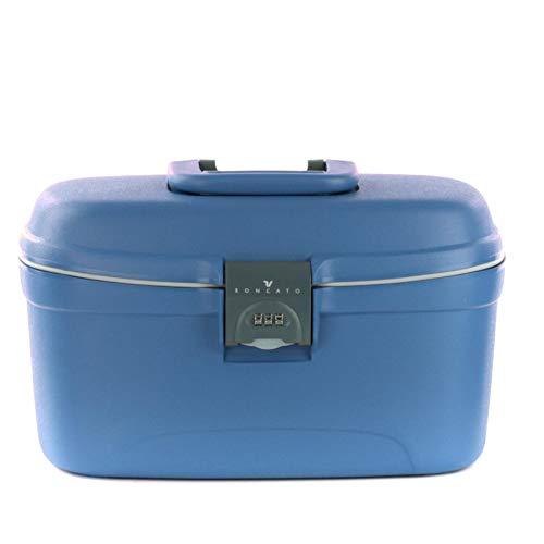 RONCATO Light beauty case rigido con combinazione e organizer Blu avio