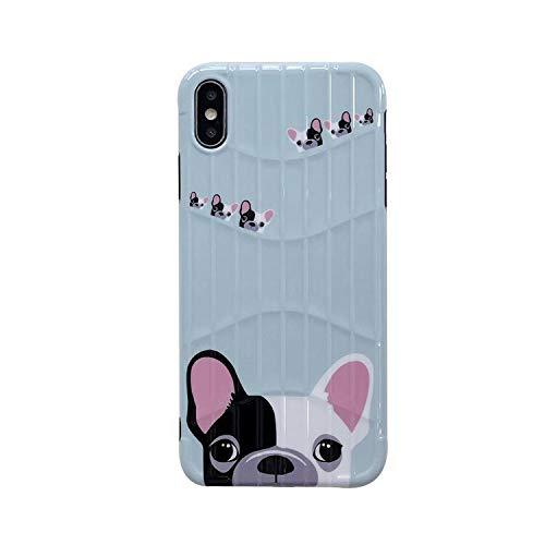 Cute French Black White Bulldog Soft TPU Phone Case for iPhone X 8 7 6 6S Plus XS Max XR Cases Cartoon Dogs Cover Fundas Coque-imsdog-for i6plus i6splus
