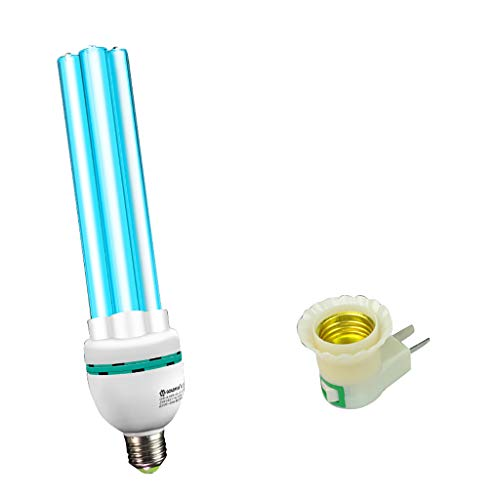 Lampada per Disinfezione UV Lampada di Sterilizzazione Lampadine UV con Spina Lampada Luce Germicida Ultravioletta Leggera con Ozono Disinfettante UV-C Portatile per La Casa Frigorifero Gabinetto