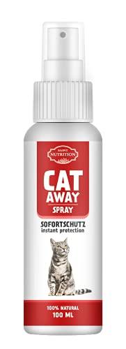 Saint Nutrition hochdosiert Katzenabwehrspray – Abwehrspray für Innen und Außen, Anti Katzen Abwehr Spray – Katzenfernhaltespray – Erziehungsspray für Katzen und Hunde
