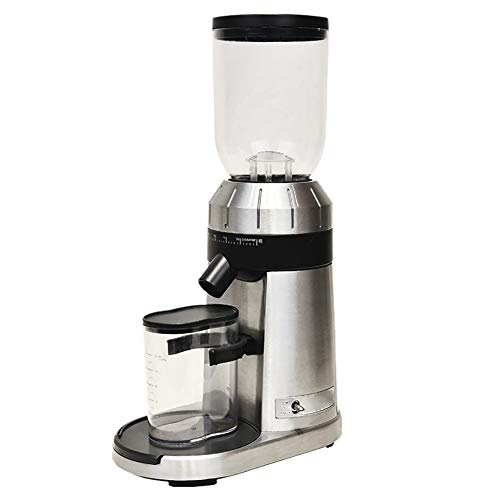Review HGFDSA Electric Coffee Grinder Stainless Steel Cone Burr Knife Smart Grinding Mill for Coffee...