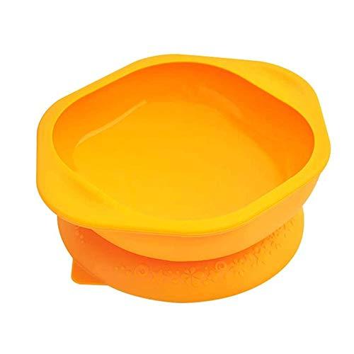 Bdesign Sucker Silicona Tazón Aprendizaje y Formación Comer Alimentos complementarios Tazón bebé de los niños Vajilla antivuelco Tazón Fondo de la succión Linda (Color : Yellow)