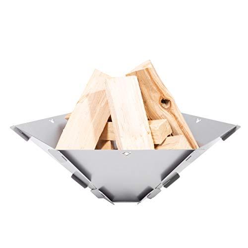 FENNEK Hexagon. Mobile, demontierbare und steckbare Feuerschale aus Edelstahl.
