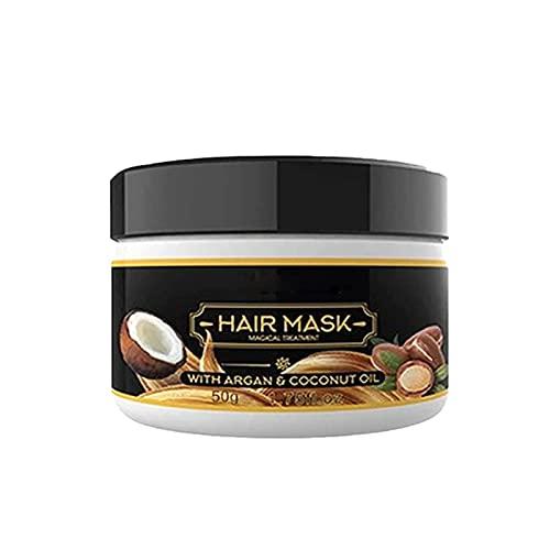 Mascarilla de pelo mágico puro 50g Keratin Argan Tratamiento de cabello 5 segundos Mascarilla Reparación de raíces Nutrirización Reparaciones de cabello Daño Raíz de cabello para el cabello-1bottle