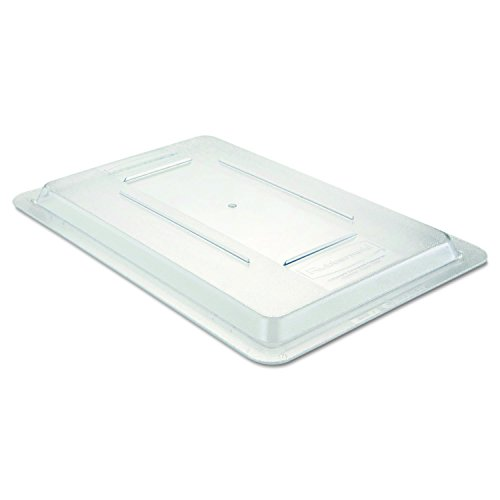 Rubbermaid Commercial Products Food Storage Box Lid for 2, 3.5, and 5 Gallon Sizes, Clear (FG331000CLR)