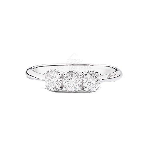 Recarlo Anello Trilogy 3 Pietre Modello Anniversary Diamanti Naturali Oro 18kt Donna R01TY733/045-15