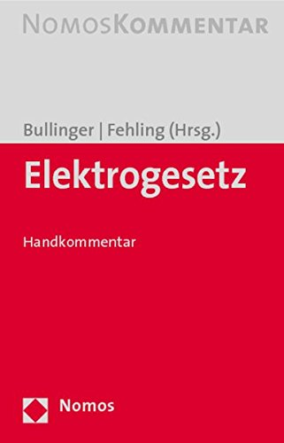 Elektrogesetz: Handkommentar