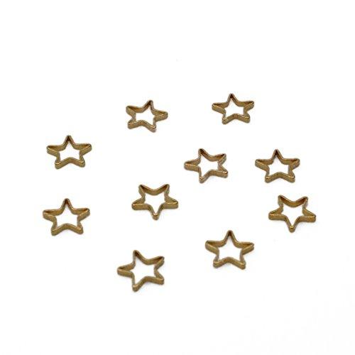Nina 星 枠 チャーム 【8mm アンティークゴールド20個セット】 アクセサリーパーツ ネックレス ピアス モチーフレジンパーツ