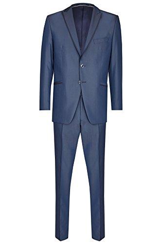 Wilvorst Hochzeitsanzug Ray der Marke, blau in Brillantgabardine Uni, Slimline Größe 102