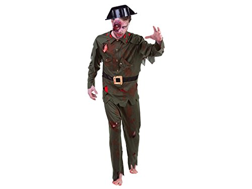 Rubies- Disfraz de guardia civil Zombie para adulto, Talla única (Rubie's Spain S8253)