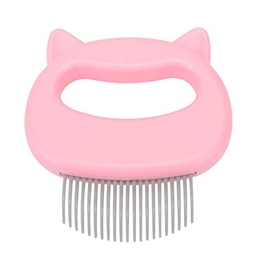 Pet Cat Dog Massage Shell Comb Grooming Hair Removal Shedding Cleaning Brush(Pink)