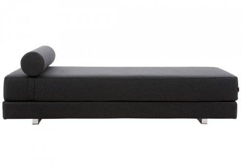 Schlafsofa Lubi - edles Designer Schlafsofa, schwarz - Liegefläche 80/160 x 200 cm -Tagesbett - Gästebett - Klappbett