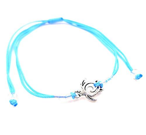 MADE IN ZEN - Pulsera brasileña para mujer, hombre, niño, joyas de algodón artesanal, color azul turquesa