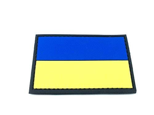 Patch Nation Ukraine Flagge Airsoft Klettverschluss PVC-Flecken