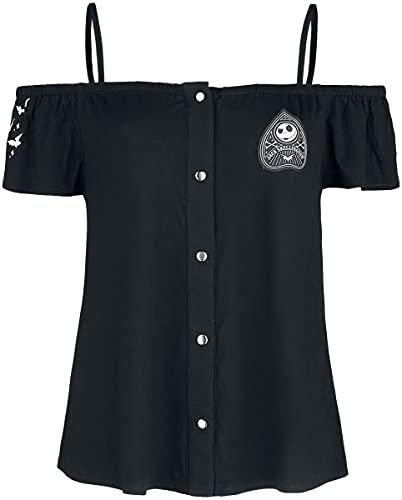 Pesadilla Antes De Navidad Ouija Nightmare - Jack Mujer Camiseta Negro L