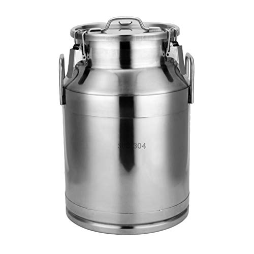 Tanque de almacenamiento de acero inoxidable 304 sellado para cocina, granos de café, leche en polvo, té de frutas secas sellada (tamaño: 20 L)