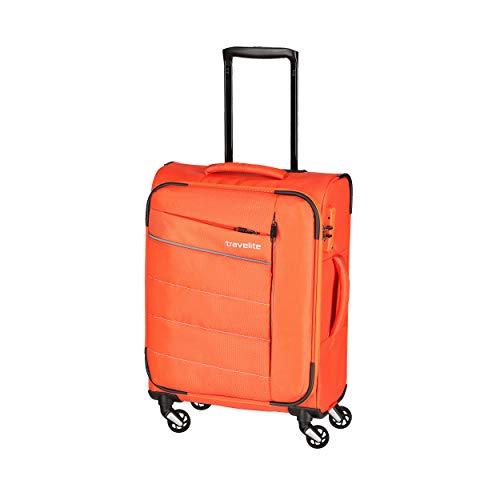 """Travelite Extrem leicht: """"KITE"""" – sportlich-klassische Trolleys, Trolley-Reisetaschen und Bordtaschen Koffer, 54 cm, 36L, Orange"""