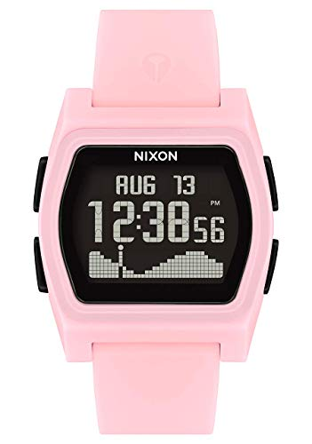 NIXON Rival A1310 - Pink/Black - 100m Water Resistant Women's Digital Surf Watch (38mm Watch Face, 20mm-19mm Pu/Rubber/Silicone Band)- Made with #Tide Recycled Ocean Plastics