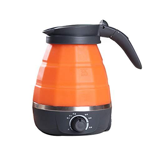 Kitchen supplies Bouilloire électrique Pliable , Mini Bouilloire électrique à Compression Portable en Silicone de qualité Alimentaire , avec Double Tension et Bouilloire électrique séparable