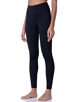 POSHDIVAH Leggings for Women High Waisted Black Premium Lycra Buttery Soft Yoga Pants Medium