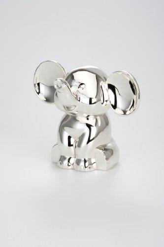 Dekolust Spardose Elefant Metall Silber Sparbüchse Sparschwein Spardosen Versilbert für Geldgeschenke