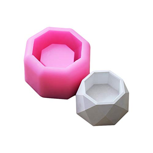 Starter Moldes Jabón 3D Planta Suculenta Maceta de Silicona Molde de Yeso Cemento Carnoso Flor Bonsai DIY Cenicero Candelabro de Silicona Molde de Jabón