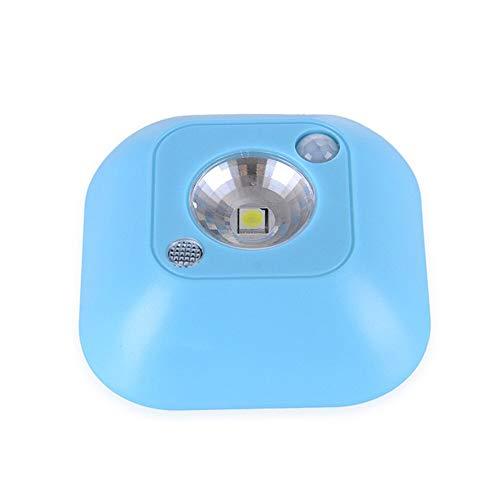 XHSHLID Mini-Bewegungsmelder LED Nachtlicht Notfall Schrank Wandmontage Nachtlicht Stimmungslicht Himmelsblau