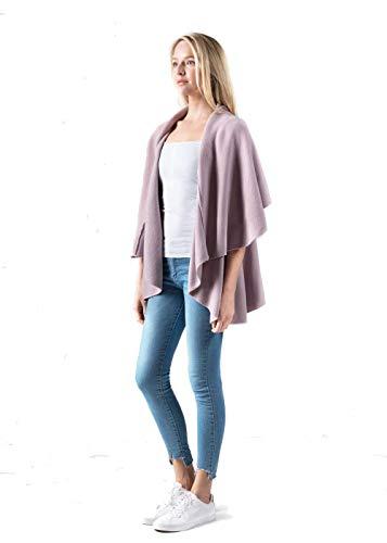 Look By M Women's Draped 4 in 1 Multi Ways Basic Shawl Vest …(Lavender)