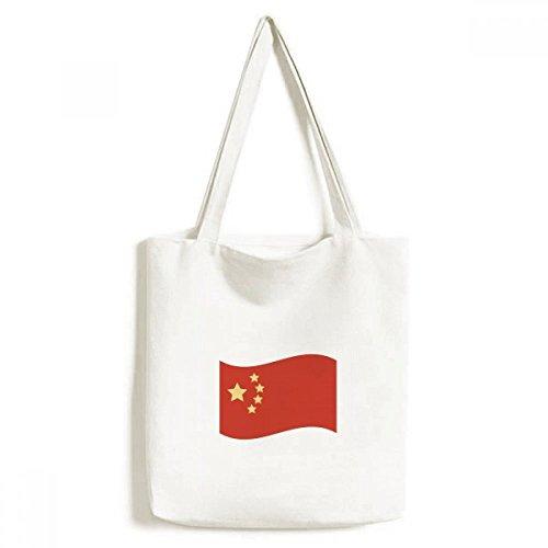 DIYthinker Bandera de China Cinco Estrellas Medio Ambiente Bolsa de Mano Bolso de Las Compras Craft Lavable