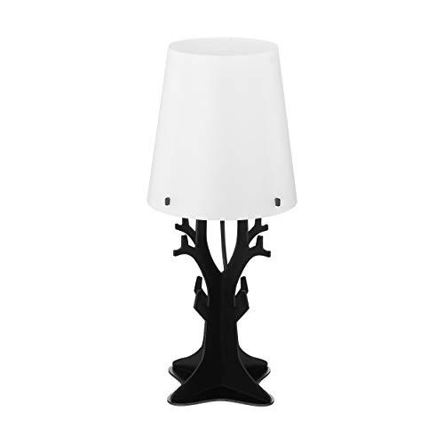 Eglo HUNTSHAM - Lampada da tavolo in legno, 40 W, colore: Nero